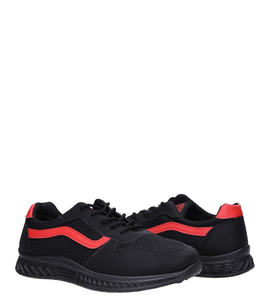 Czarne buty sportowe sznurowane Casu CH01 wysokosc_platformy 1 cm