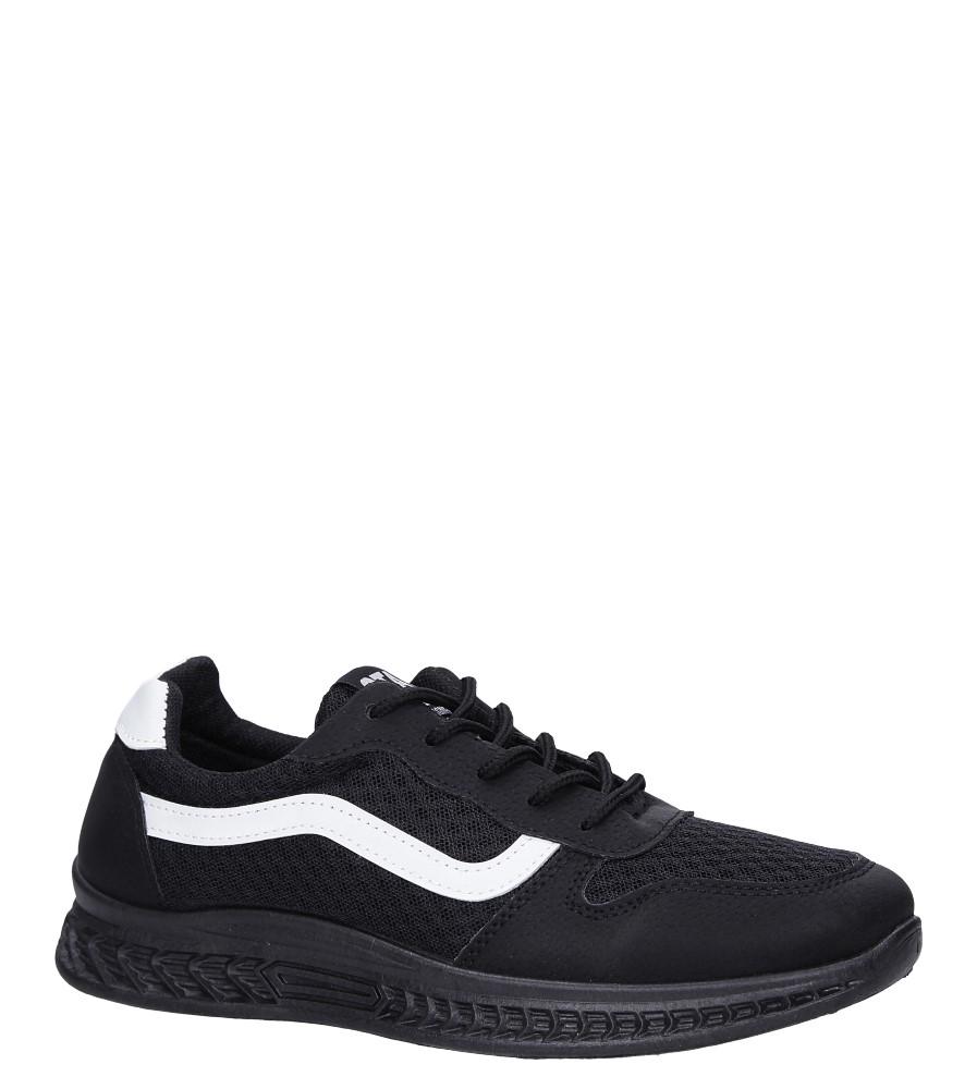 Czarne buty sportowe sznurowane Casu CH01