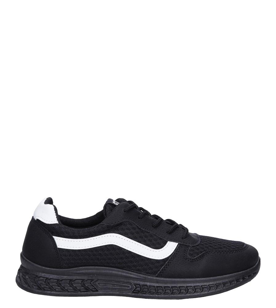 Czarne buty sportowe sznurowane Casu CH01 czarny