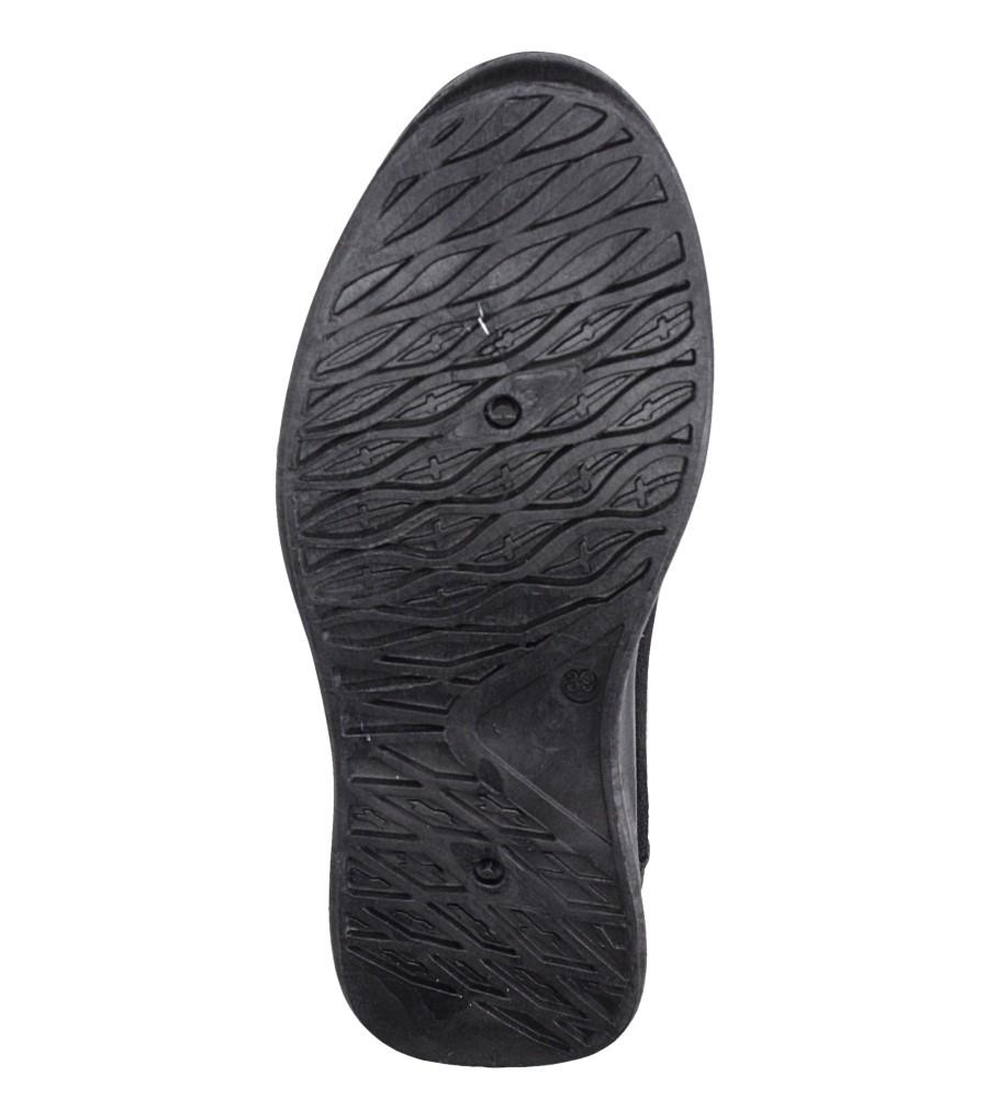 Czarne buty sportowe sznurowane Casu CH01 wierzch materiał/skóra ekologiczna