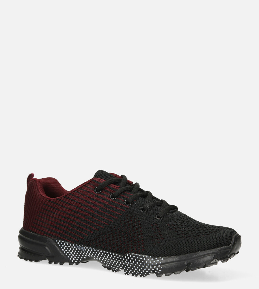 Czarne buty sportowe sznurowane Casu CH017-1 czarny
