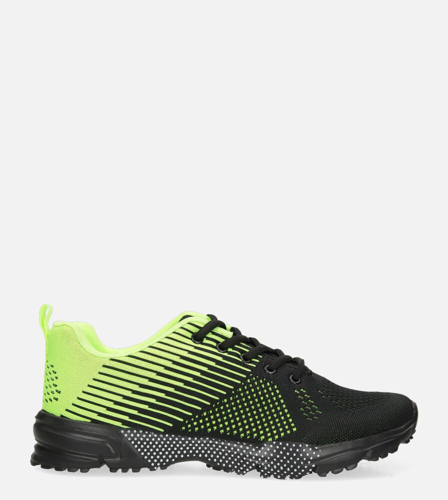 Czarne buty sportowe sznurowane Casu CH017-3 czarny