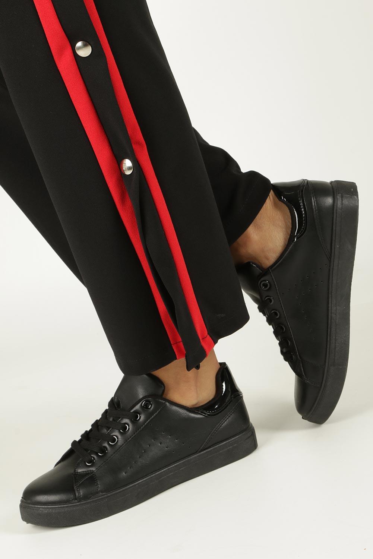 Czarne buty sportowe sznurowane Casu D61-2