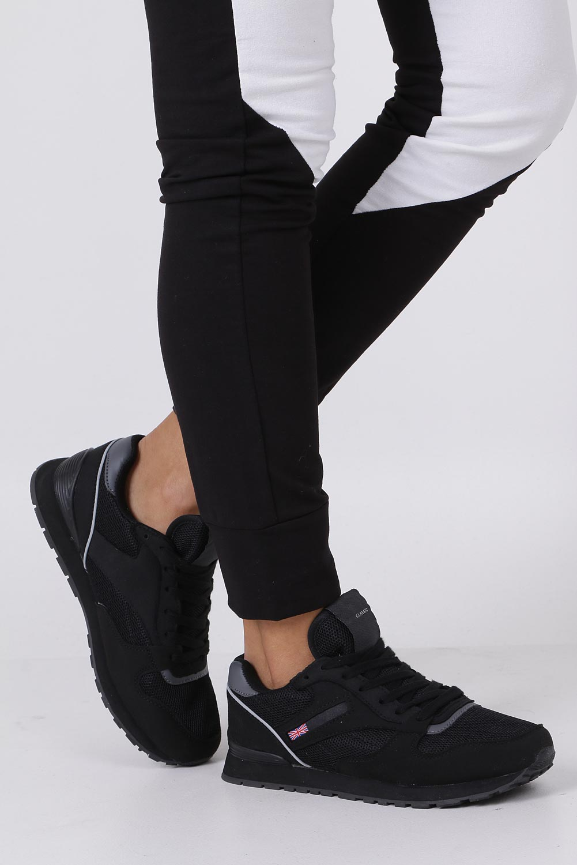 Czarne buty sportowe sznurowane Casu D81-2
