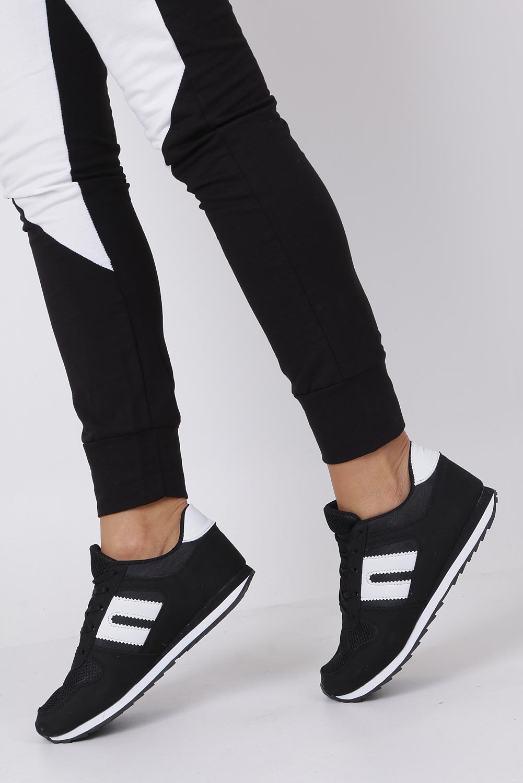 Czarne buty sportowe sznurowane Casu DN17-1
