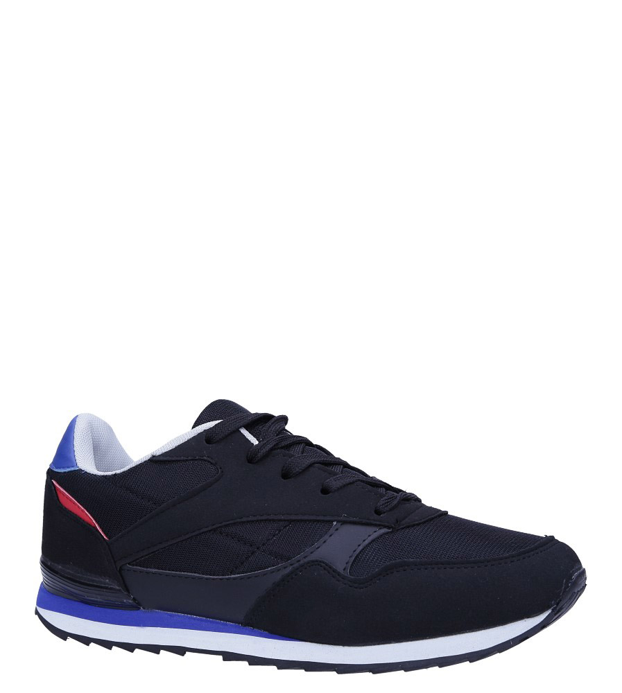 Czarne buty sportowe sznurowane Casu DN19-1