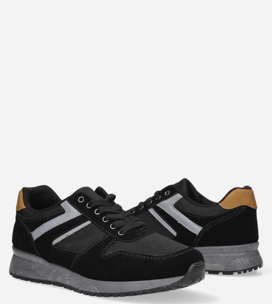 Czarne buty sportowe sznurowane Casu DS11810 czarny