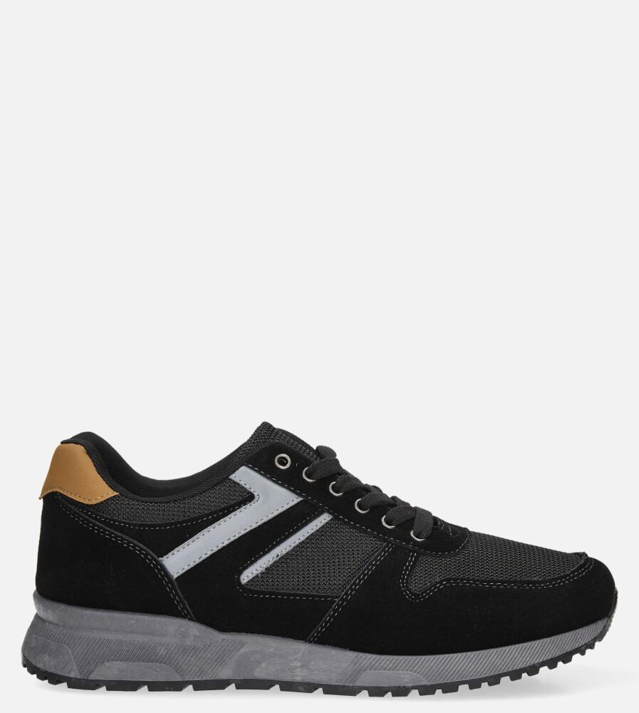 Czarne buty sportowe sznurowane Casu DS11810 model DS11810
