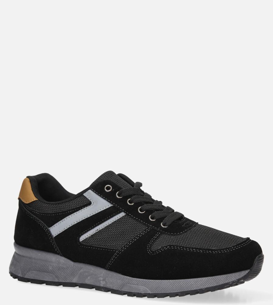 Czarne buty sportowe sznurowane Casu DS11810 sezon Całoroczny