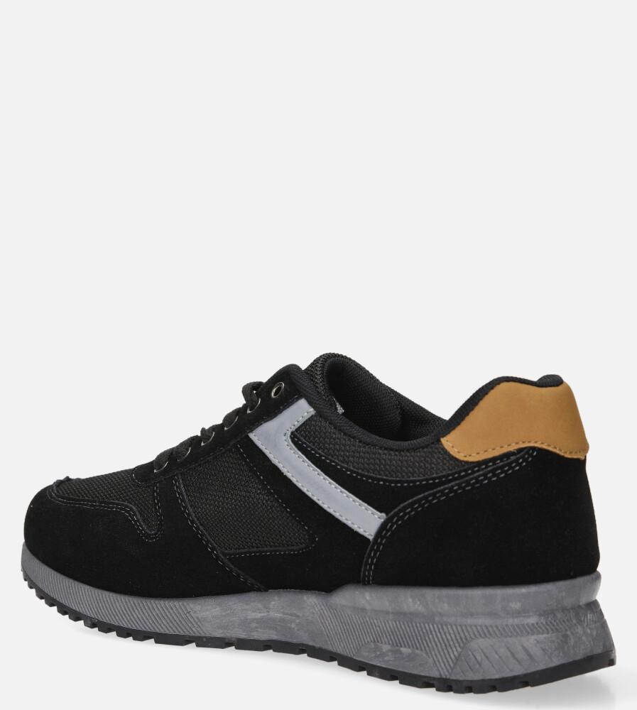 Czarne buty sportowe sznurowane Casu DS11810 kolor czarny