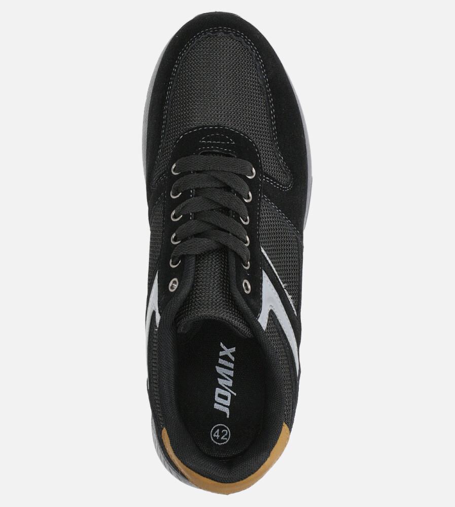 Czarne buty sportowe sznurowane Casu DS11810 wysokosc_obcasa 4 cm
