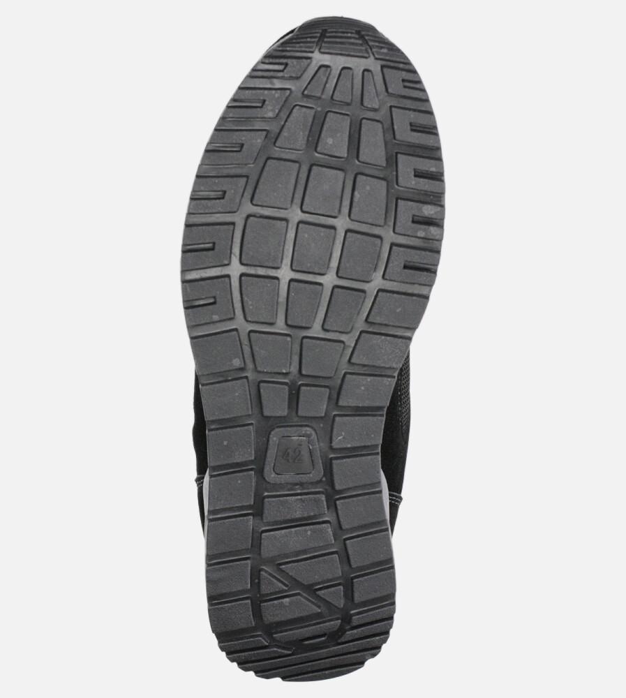 Czarne buty sportowe sznurowane Casu DS11810 wysokosc_platformy 2 cm