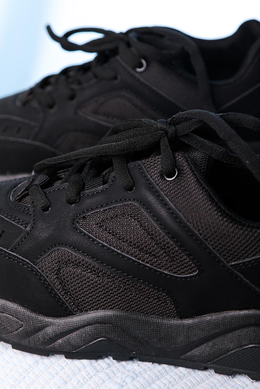 Czarne buty sportowe sznurowane Casu DS11905 czarny