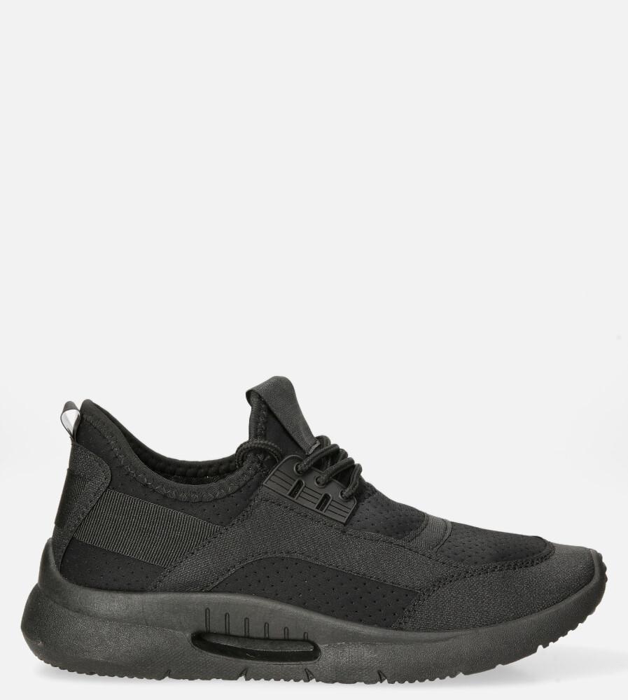 Czarne buty sportowe sznurowane Casu DS12001-1