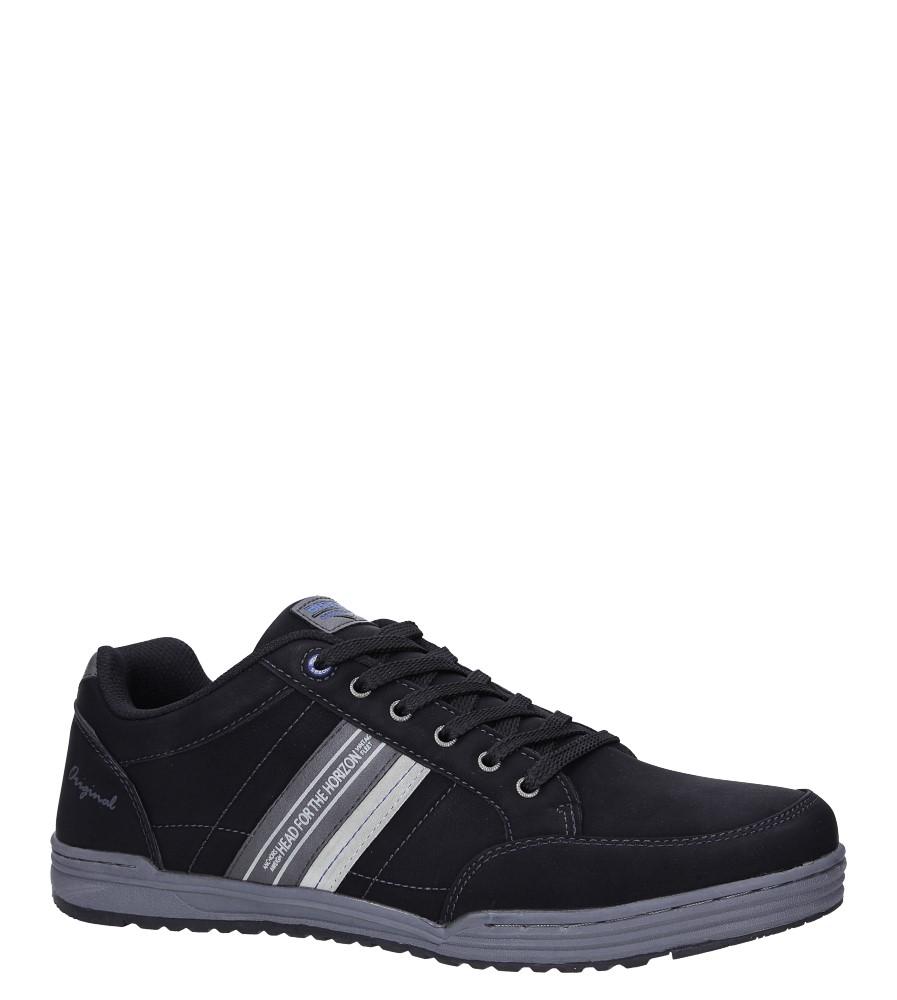 Czarne buty sportowe sznurowane Casu EXC7687 czarny