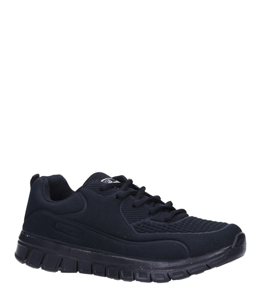 Czarne buty sportowe sznurowane Casu F-60