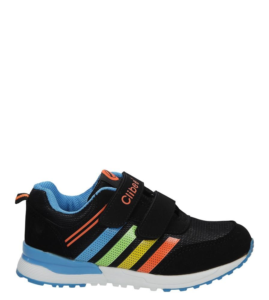 Czarne buty sportowe sznurowane Casu  F-668