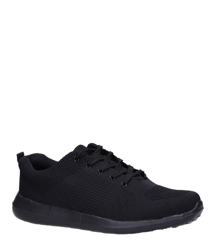 Czarne buty sportowe sznurowane Casu F6-12 producent Casu