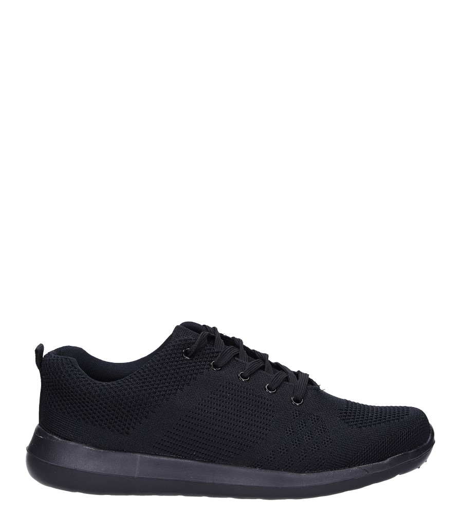 Czarne buty sportowe sznurowane Casu F6-12 czarny