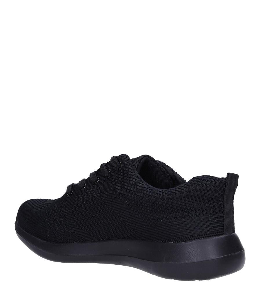 Czarne buty sportowe sznurowane Casu F6-12 sezon Całoroczny
