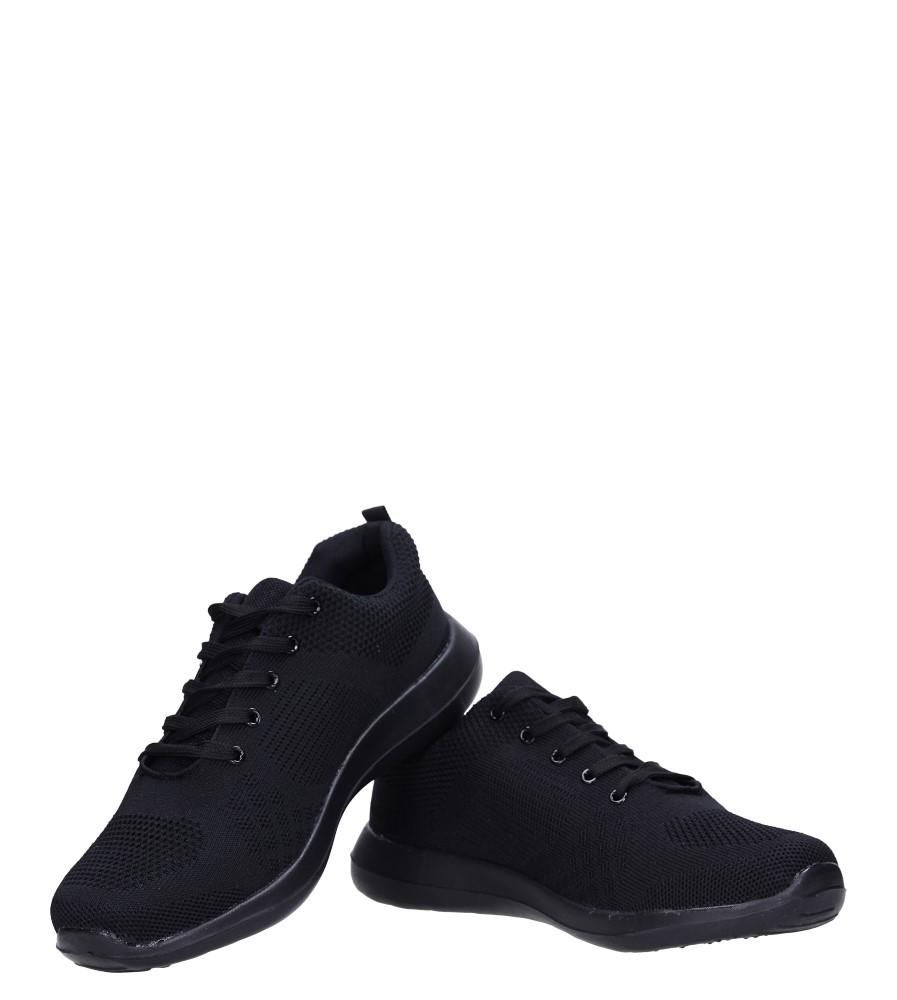 Czarne buty sportowe sznurowane Casu F6-12 kolor czarny