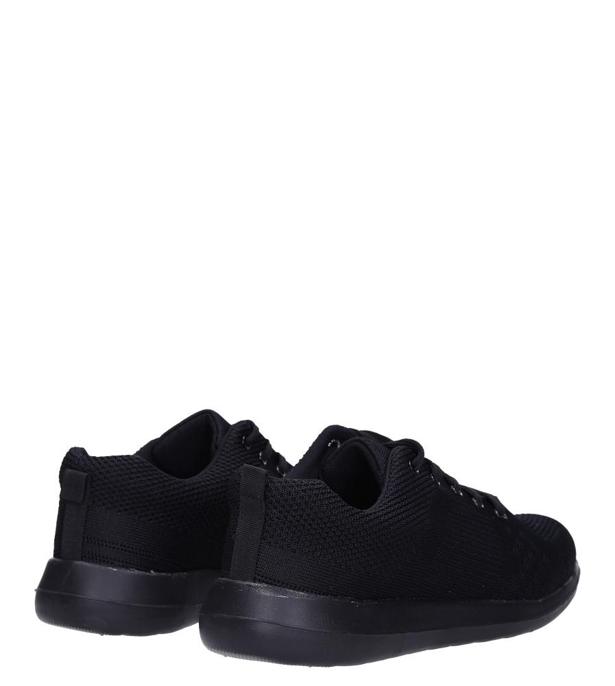 Czarne buty sportowe sznurowane Casu F6-12 wysokosc_platformy 1.5 cm