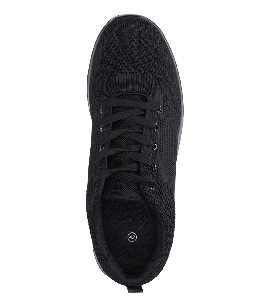 Czarne buty sportowe sznurowane Casu F6-12 wys_calkowita_buta 11 cm
