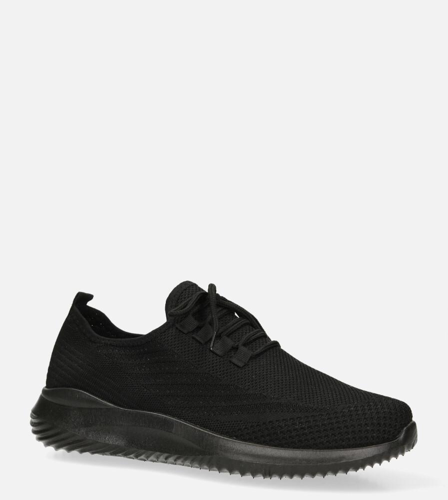 Czarne buty sportowe sznurowane Casu H1913-1 czarny