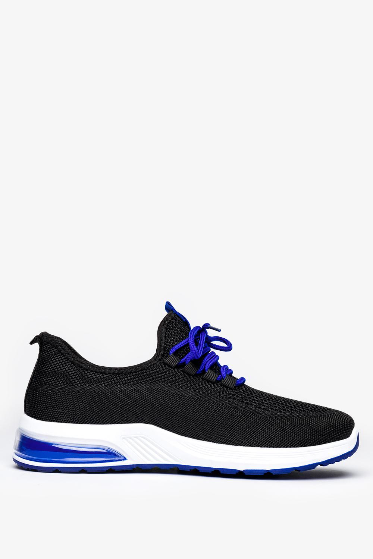 Czarne buty sportowe sznurowane Casu H213-2