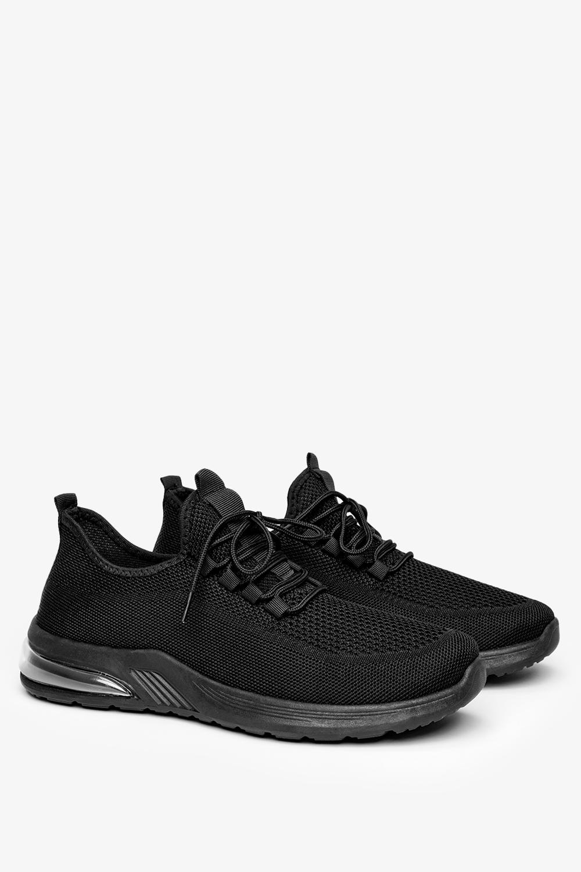 Czarne buty sportowe sznurowane Casu H213-4