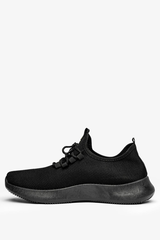 Czarne buty sportowe sznurowane Casu H214-1