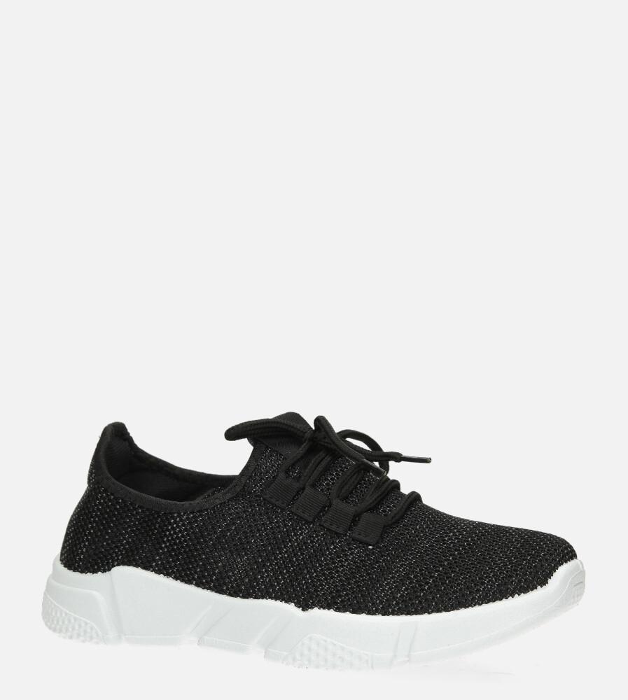 Czarne buty sportowe sznurowane Casu H663-1709 czarny