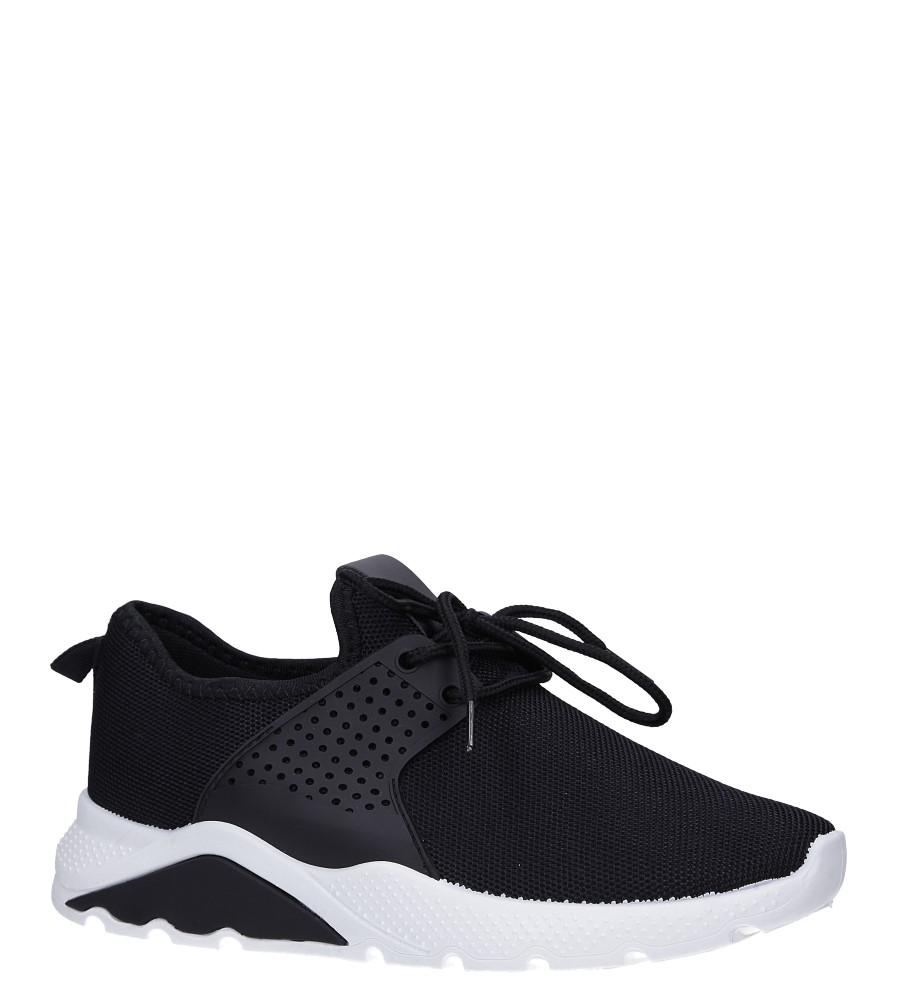 Czarne buty sportowe sznurowane Casu HR61293