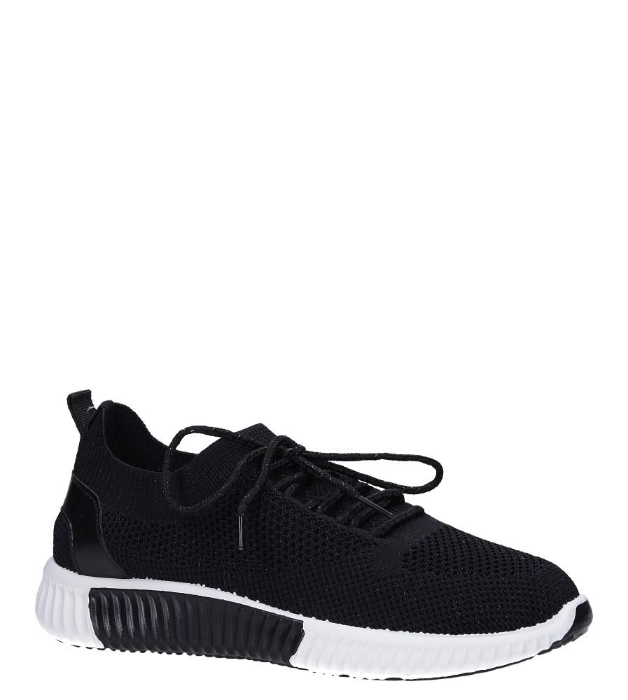 Czarne buty sportowe sznurowane Casu HR61297