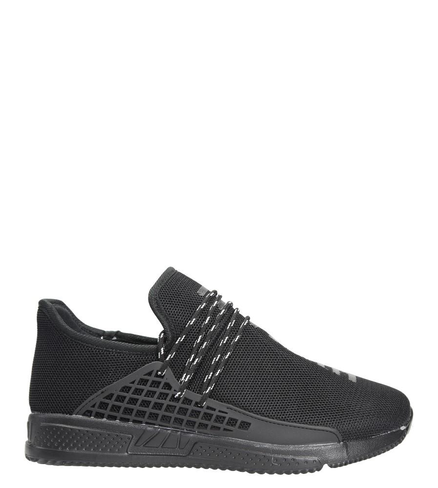 Czarne buty sportowe sznurowane Casu J-152