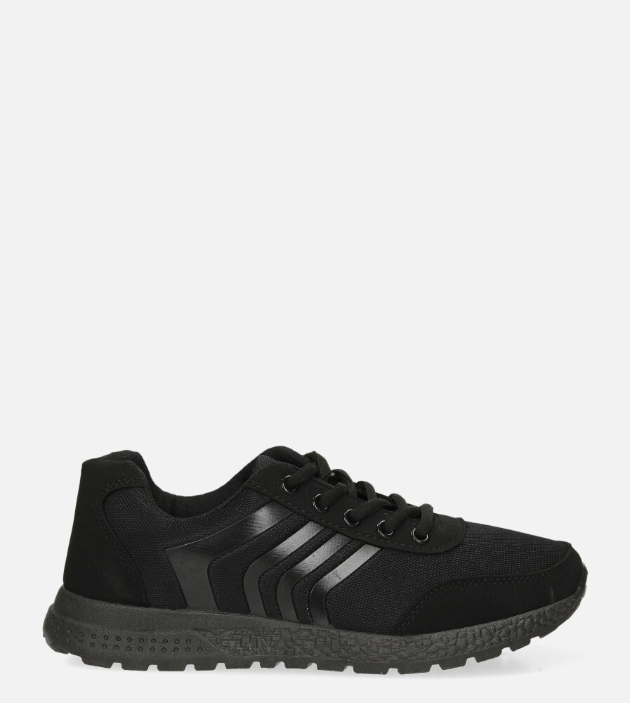 Czarne buty sportowe sznurowane Casu JK-21A czarny