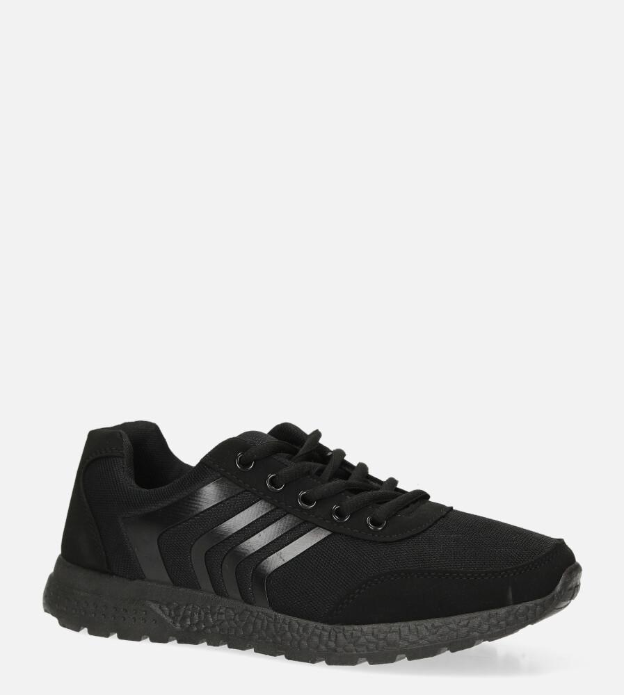 Czarne buty sportowe sznurowane Casu JK-21B czarny