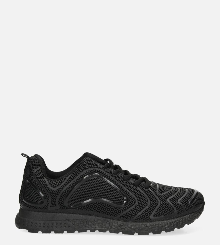 Czarne buty sportowe sznurowane Casu JK-26A czarny