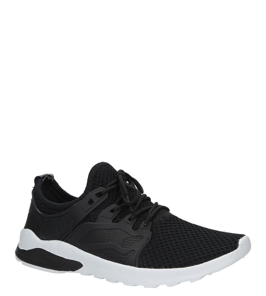 Czarne buty sportowe sznurowane Casu JS-5