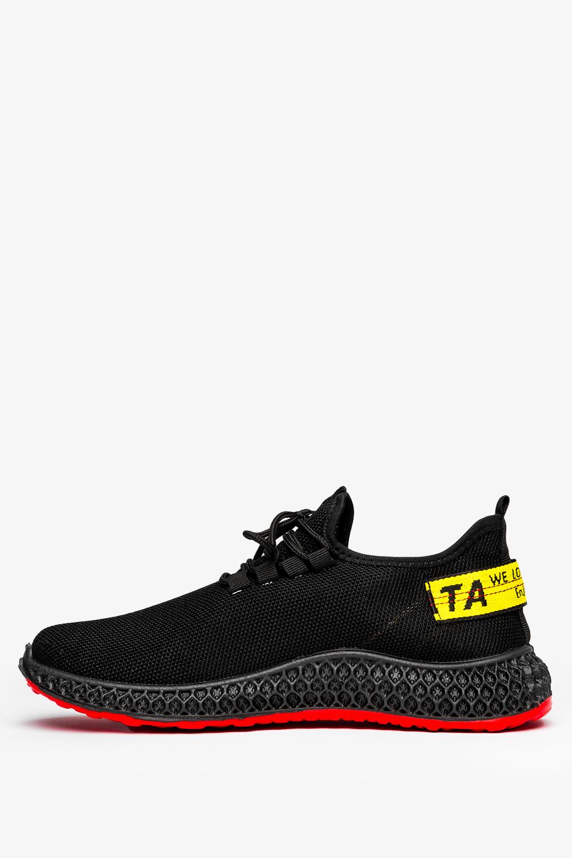 Czarne buty sportowe sznurowane Casu JX-35