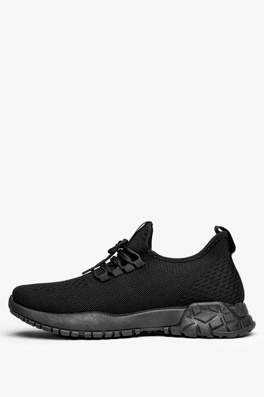 Czarne buty sportowe sznurowane Casu JX-39