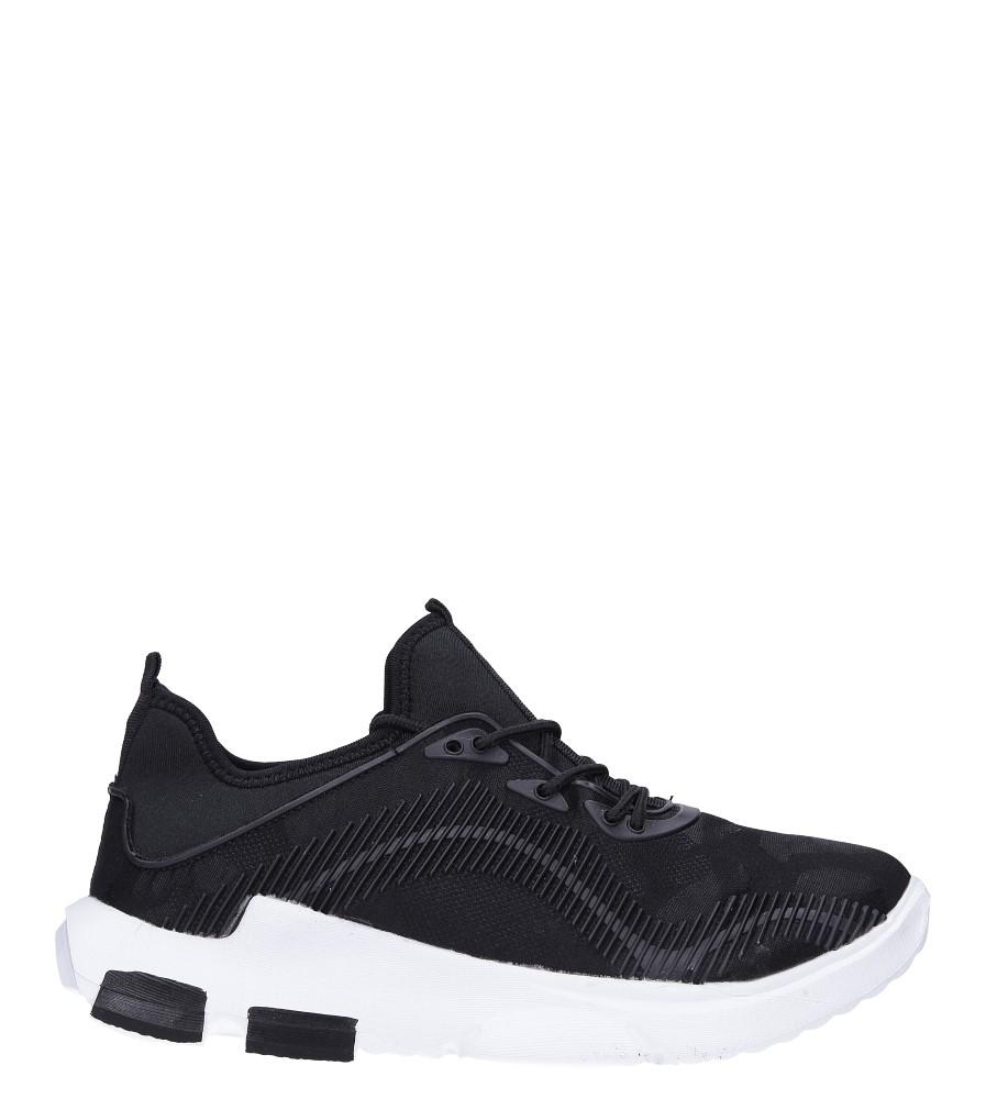 Czarne buty sportowe sznurowane Casu LF21-1
