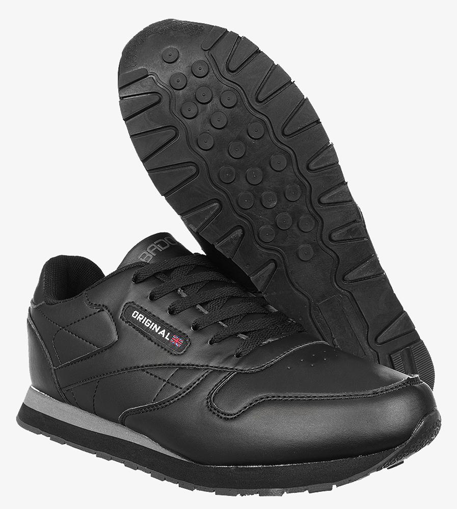 Czarne buty sportowe sznurowane Casu MXC7236