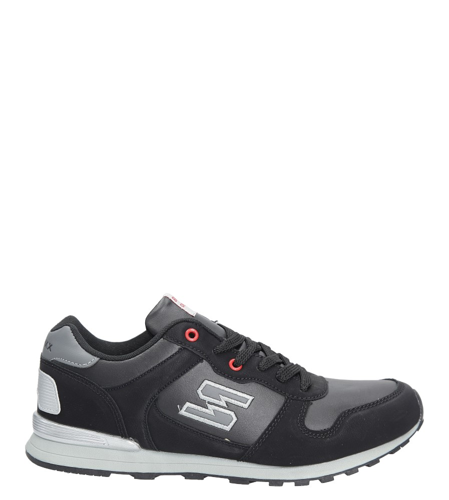 Czarne buty sportowe sznurowane Casu MXC7251