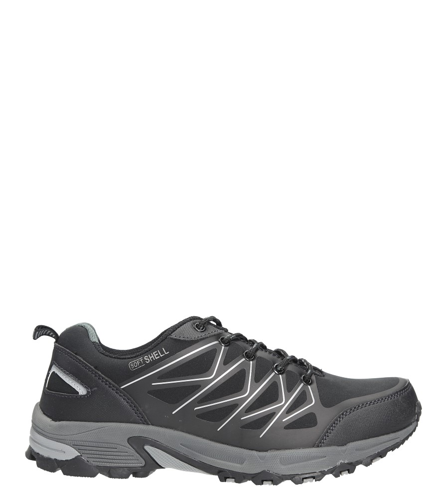 Czarne buty sportowe sznurowane Casu MXC7378 czarny