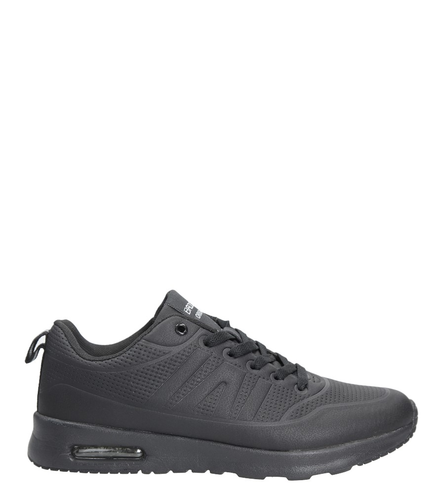 Czarne buty sportowe sznurowane Casu MXC7550
