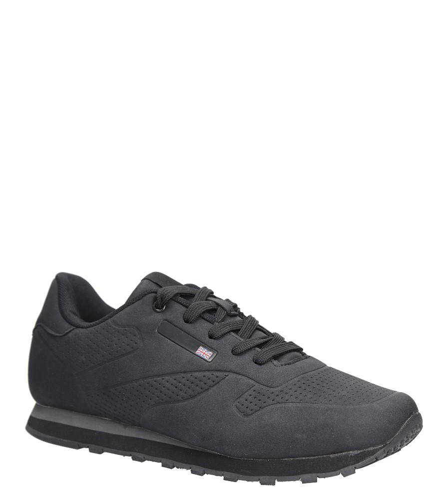 Czarne buty sportowe sznurowane Casu MXC7565