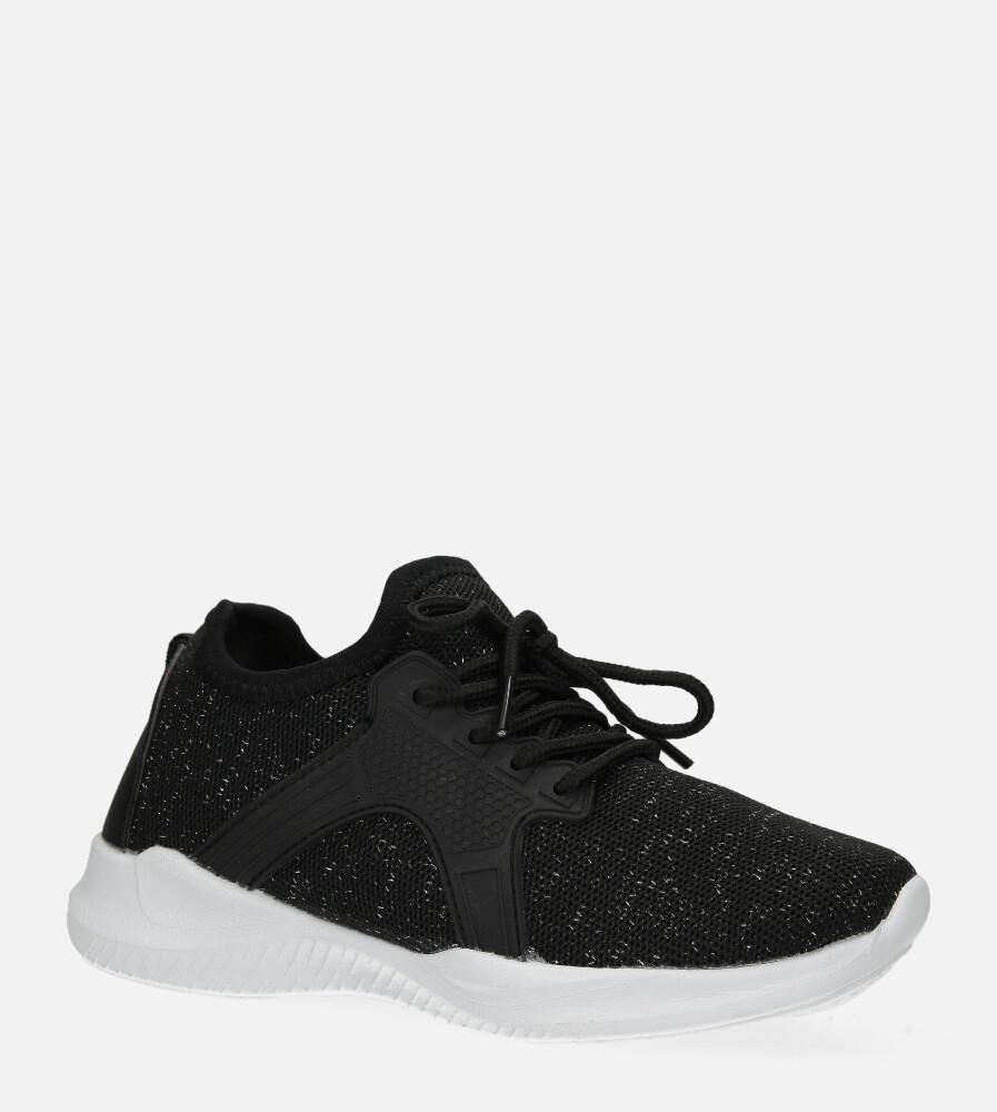 Czarne buty sportowe sznurowane Casu REN1449NT