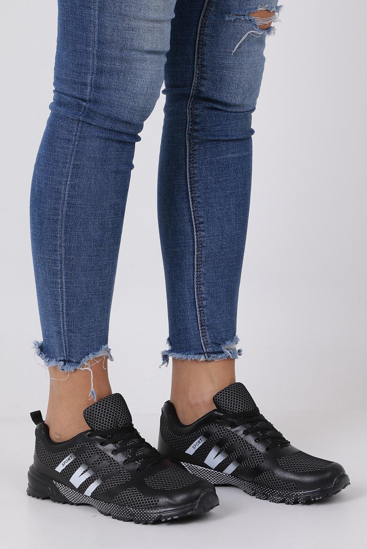 Czarne buty sportowe sznurowane Casu RJ-316-1