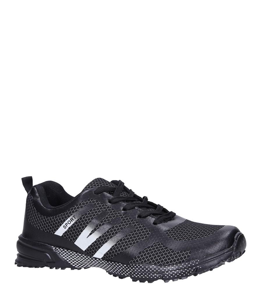 Czarne buty sportowe sznurowane Casu RJ-316-1 czarny